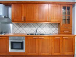 brown rectangle natural wood and glass kitchen cabinets desi