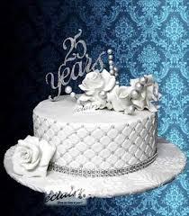 Anniversaries Cake 25th Anniversary White Cream Cake Bakery