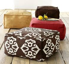 make a rug or dhurrie pouf