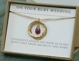 40th wedding anniversary gifts ruby wedding t 40th anniversary t ruby anniversary