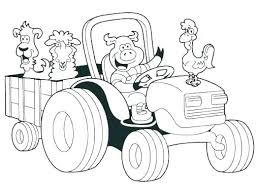 tractor color pages.  Tractor Farm Tractor Coloring Pages Trailer Tractors To Color Colourin    For Tractor Color Pages W