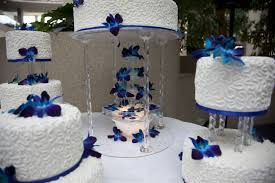 blue wedding cakes fountain. Delighful Blue Water Fountain Under The Royal Blue Wedding Cake Decorated With White  Chocolate Butter Cream Satin Ice Fondant Cornelli Lace And Singapore Orchids Inside Blue Wedding Cakes Fountain E