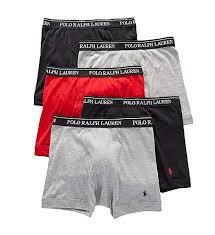 Polo Boxers Size Chart Polo Ralph Lauren Mens 5 Pack Boxer Briefs