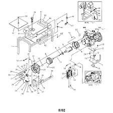 craftsman craftsman 3500 watt a c generator parts model main unit