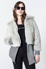 monday image 6 of pace fur jacket in messy white