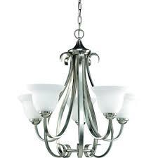progress lighting torino collection 5 light brushed nickel chandelier p4416 09 the home depot