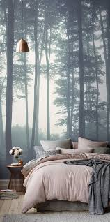 Decorating: Beautiful Forest Wall Mural Ideas - Nature Wallpaper