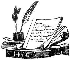 vine scholar clip art bing images teacher bibliography clipart book and quill