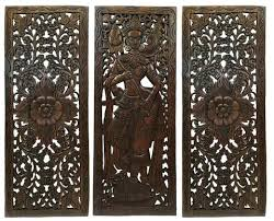 wooden wall carvings multi panels oriental home decor wood carved fl wall art home decor wooden wooden wall carvings