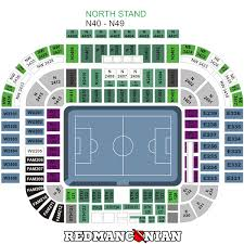 Manchester United Seating Plan Old Trafford Seating Plan