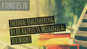 Thermal Engineering By RK Rajput S4 Mechanical Textbooks