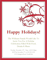 Create Christmas Invitations First Snow Holiday Party Invitation