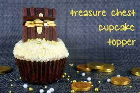 Treasure Chest Decorations How To Make Fondant Treasure Chest Cupcake Topper Bake Happy