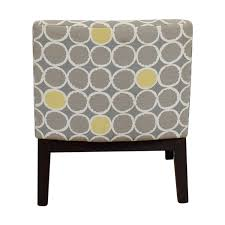 gray and white accent chair. Perfect Chair Shop West Elm Grey Yellow And White Accent Chair Online To Gray And