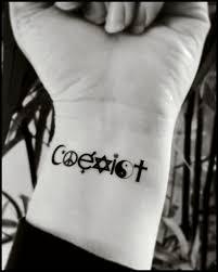 Temporary Tattoos Coexist Fake Tattoo World Peace Tattoo Etsy Best
