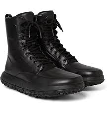 under armour fat tire boots. under armour sportswear shoes mens fat tire leather and stretch-jersey boots - black