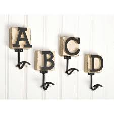 wood wall hooks cute wall hook design unique alphabetic wooden wall hooks with bright white design