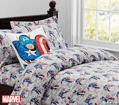 Captain America™ Comic Duvet Cover | Pottery Barn Kids &  Adamdwight.com