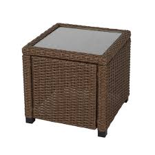 home decorators collection maldives brown wicker outdoor accent table