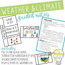 Weather Vs Climate Chart Comparing Weather And Climate
