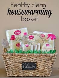 healthy clean housewarming gift basket my healthy home