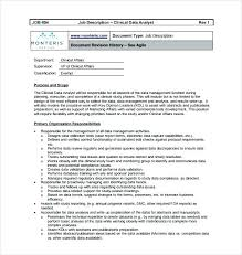 Database Analyst Job Description Clinical Systems Analyst Jobs Free ...