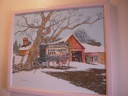 h hargrove oil painting on canvas h hargrove sign painter barn 1901 signed