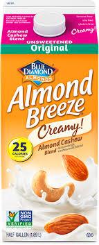 almond cashew unsweetened original almondmilk blends
