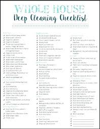 Home Cleaning Schedule Printable House Chore List The