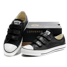 converse velcro. black leather converse all star 3 strap velcro low tops sneakers r
