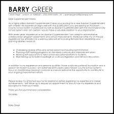 assistant superintendent cover letter sample superintendent cover letter
