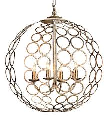 contemporary orb silver and gold chandelier