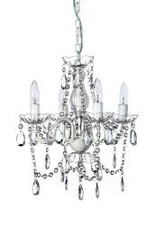 now the original gypsy color 4 light small shabby chic crystal chandelier h18 w15 white metal frame with clear acrylic crystal