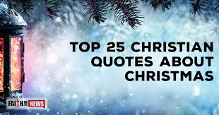 Christian Quotes For Christmas