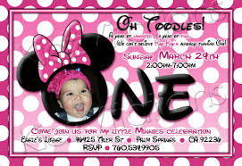 Minnie Mouse Blank Invitation Template Stunning Minnie Mouse 1st Birthday Invitations Free Templates