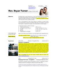 Pastor Resume Template Resume Templates