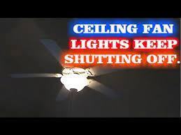 ceiling fan lights flickering how to