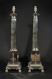 empire style silver table lamps