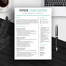 Instant Resume Templates Simple Resume Template Cv Template For MS Word IWork Instant
