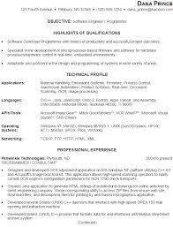 sample resume software engineer programmer resume samples for software engineers