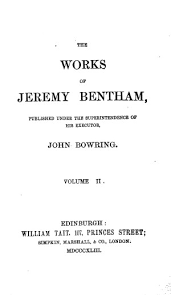 jeremy bentham works the works of jeremy bentham vol 2 judicial procedure anarchical