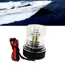 12v Rope Lights For Boats Us 16 19 19 Off New White 12v 5500 6300k Abs Led All Round 360 Degree Navigation Anchor Lamp Marine Boat Yacht Light Navigation Anchor Light In
