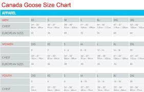 Canada Goose Down Size Chart