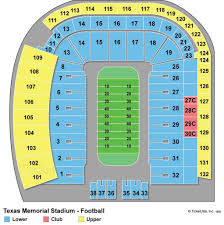 Dkr Stadium Seating Chart Dkr Texas Memorial Stadium Section 103 Rateyourseats Dkr