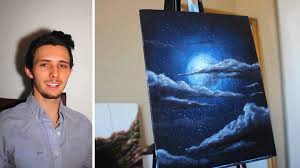 how to paint a stars a moon and clouds in a night sky a basic sd painting tutorial you