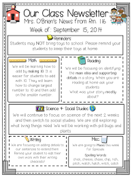 Class Newsletter Class Newsletters Freebie Included Read Like A Rock