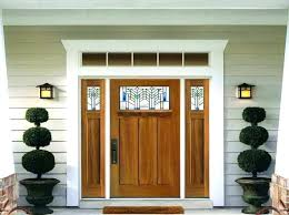furniture black stained wood entry half glass door with metal handle combined brick front modern doors