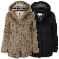 las fur coat womens jacket mink hooded vintage