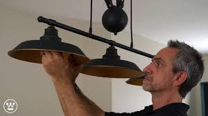 Westinghouse <b>Pulley Light</b> Fixture Installation Overview - YouTube