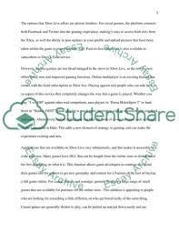 Xbox Live Product Evaluation Essay Example Topics And Well